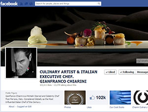 Facebook fan page Chef Gianfranco Chiarini 1
