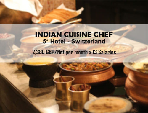 Indian cuisine chef for a 5 luxury hotel in switzerland for Assistant cuisine