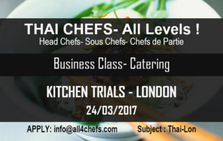 Thai Chefs All levels- Business Airline Catering