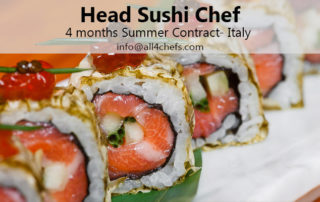 Head Sushi Chef-summer contract-Italy