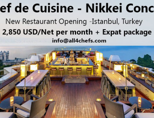 Chef de Cuisine for a New Japanese-Peruvian Concept restaurant in Istanbul, Turkey !