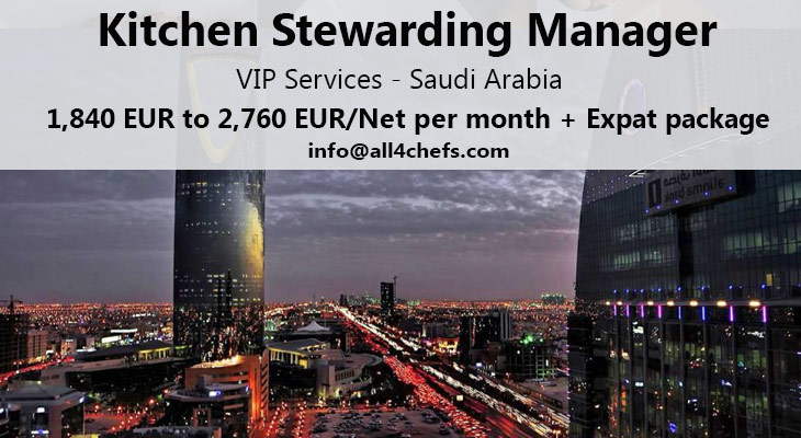 Kitchen Manager-VIP Catering Saudi Arabia