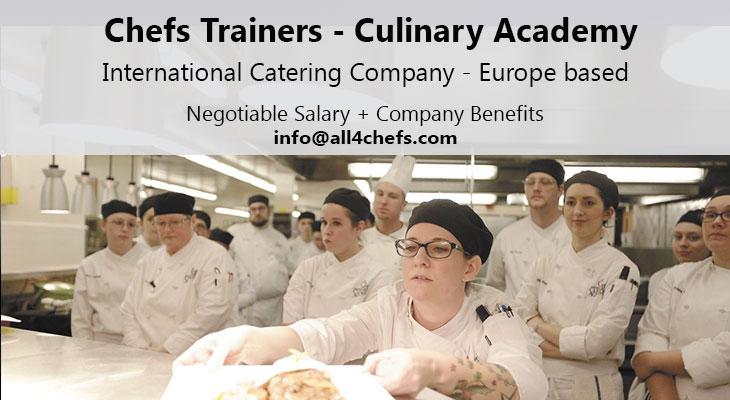 Culinary Instructors -International Catering company, All4Chefs.com