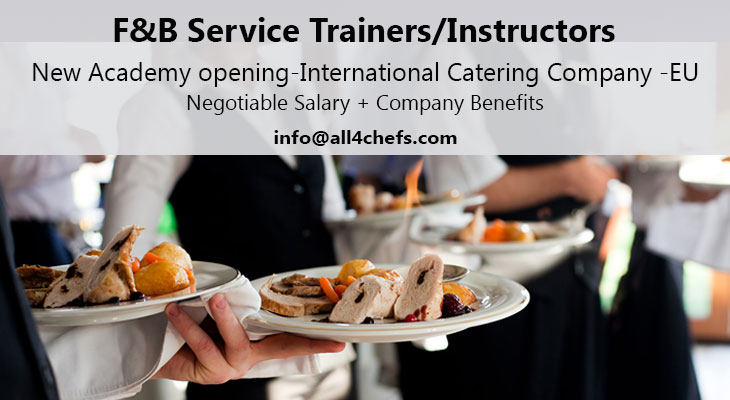 F&B Service trainers needed- Hospitality academy Europe