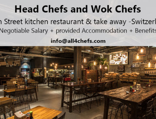 Asian Head Chef and Wok Chefs- Asian Street Kitchen Restaurants & Take Away, Switzerland !