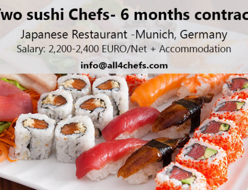 Two Sushi chefs for 6 months contract- Japanese Restaurant , Munich, Germany