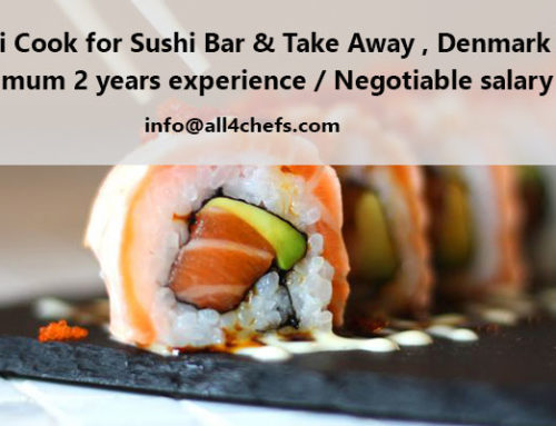Sushi Cook for Sushi Bar & Take Away , Denmark