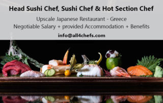 Head Sushi chef for Japanese upscale restaurant