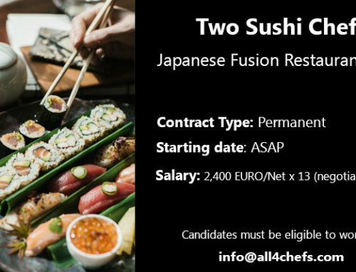 Two Sushi chefs, Japanese fusion restaurant -Paris