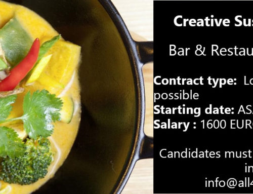 Creative Sushi/Grill Chef to start immediately – Bar & Restaurant – Austria !