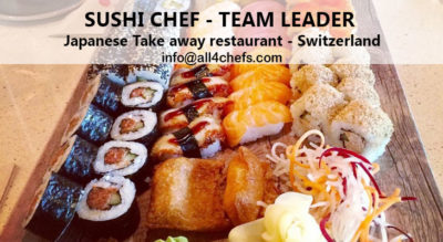 sushi chef job Switzerland