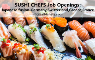 Sushi chef jobs by All4chefs.com