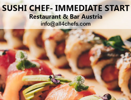 Immediate start Sushi chef for an amazing Restaurant & Bar – Austria !